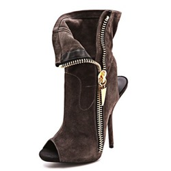 Shoespie Open Toe Side Zipper Sandal Bootie