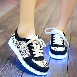 Shoespie Print Luminous Shoes
