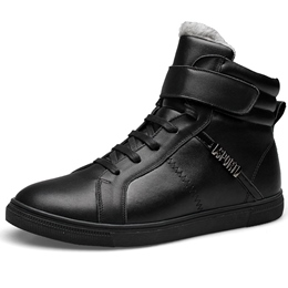 Shoespie Black Men's Warm Sneakers