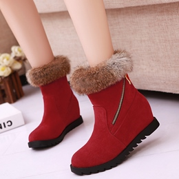 Shoespie Warm in Winter Round Toe Furry Snow Boots