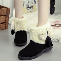 Shoespie Side Bow Flat Snow Boots