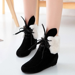 Shoespie Round Toe Cute Shearling Snow Boots