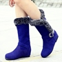 Shoespie Side Furry Round Toe Snow Boots