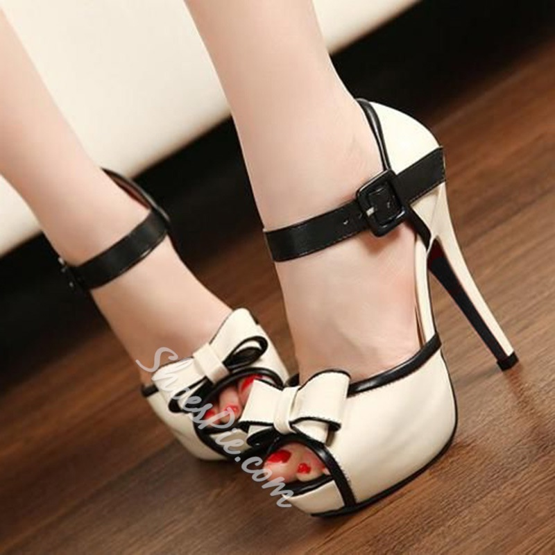 Shoespie Cute Bows Platform Sandals