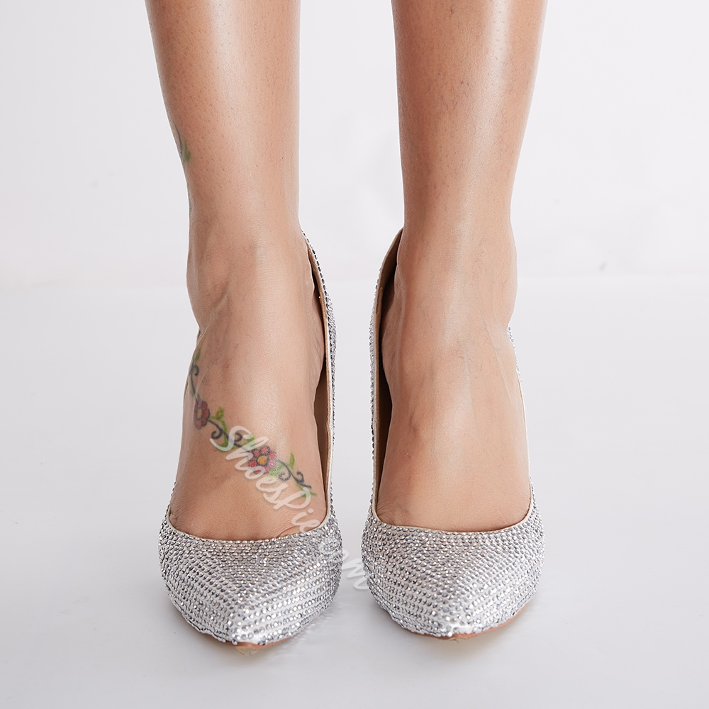 Luxury Diamond Pointed toe Stilletto Heels