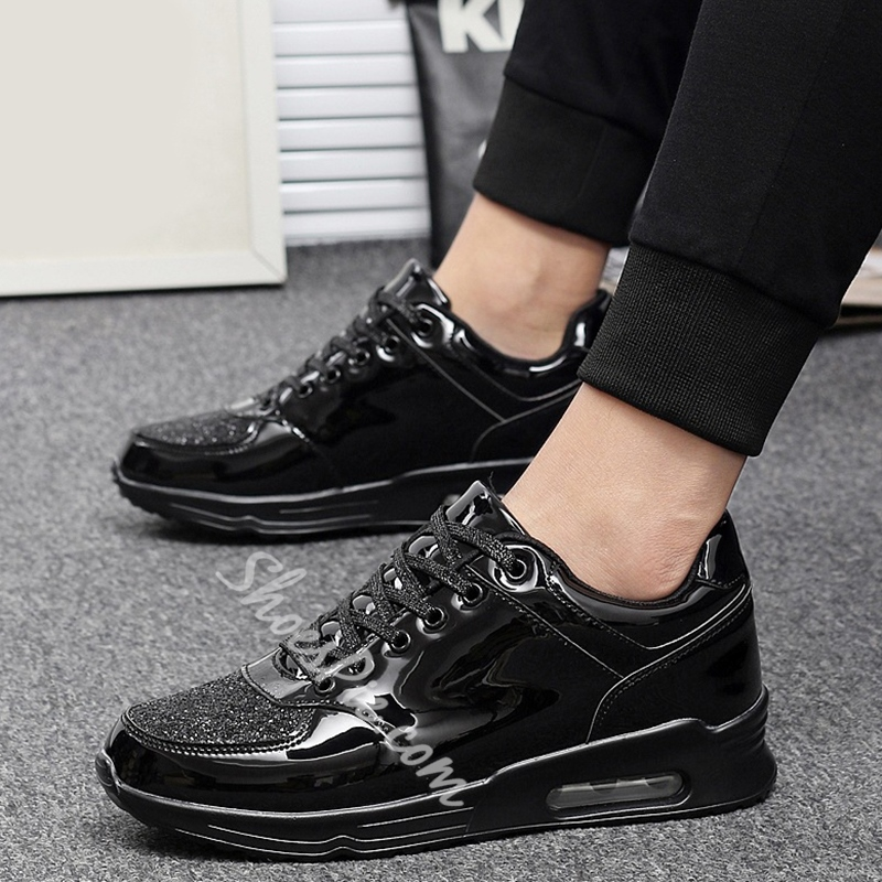 Shoespie Patent Leather Men's Casual Shoes