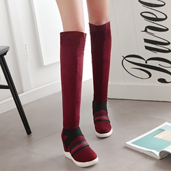 Shoespie Warm in Winter Round Toe Knee High Boots