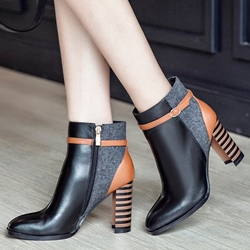 Shoespie Chic Contrast Color Fashion Ankle Boots