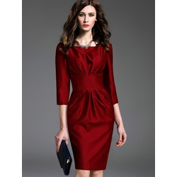 Professional Slash Neck Bodycon Dresses