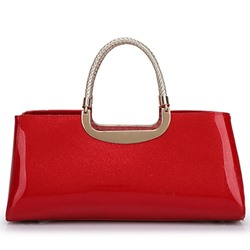 Shoespie Shine Leather Large Handbag