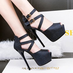 Shoespie Frosting Platform Sandals