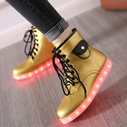 Shoespie Lace up Luminous Outsole Women Sneakers