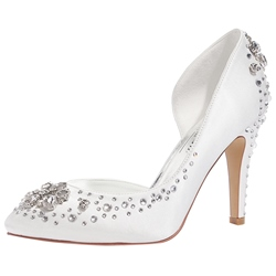 Shoespie Delicate Rhinestone Appliqued Bridal Shoes