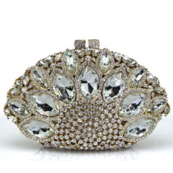Shoespie Luxurious Peacock Rhinestone Banquet Clutch Bag