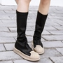Shoespie Street Style Cap Toe Flat Boots