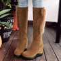 Shoespie Chic Side Fur Appliqued Flat Snow Boots