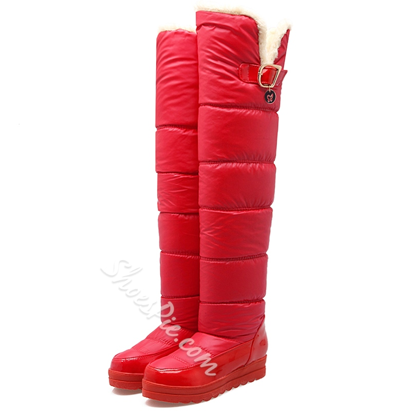 Shoespie Cute Warm Slip On Over the Knee Snow Boots