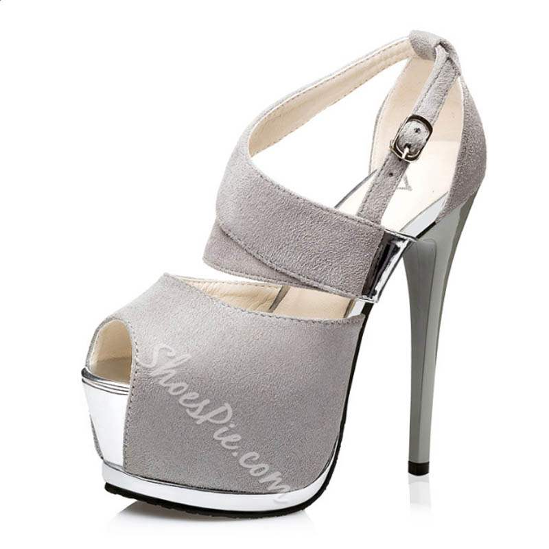 Shoespie Sexy Peep Toe Platform Sandals