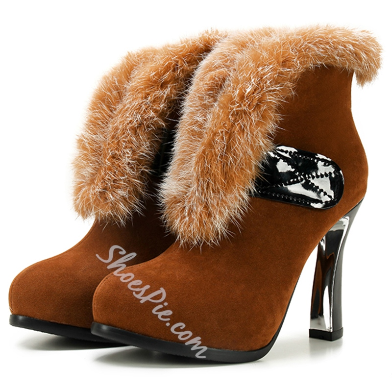 Shoespie Soft Fur Fashion Ankle Boots