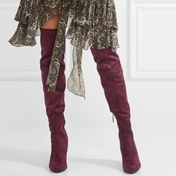Shoespie Red Winter Must Have Chunky Heel Over the Knee Boots
