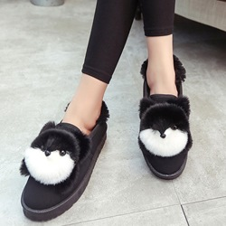 Shoespie Cute Animal Appliqued Loafers