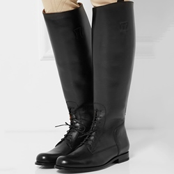 Shoespie Androgynous Designs Black Waterproof Knee High Riding Boots