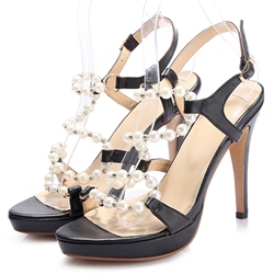 Shoespie Open Toe Strappy Beads Sandals