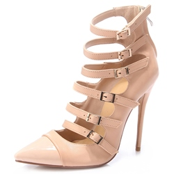 Shoespie Featuring Light Apricot Buckle Stiletto Heels