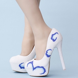 Shoespie Two Tone Wedding Bridal Shoes