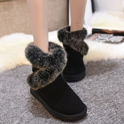 Shoespie Round Toe Warm Wrap Snow Boots