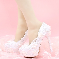 Shoespie Quality Dreaming White Platform Bridal Shoes