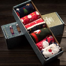 Shoespie Cute Warm Christmas Socks including six pairs