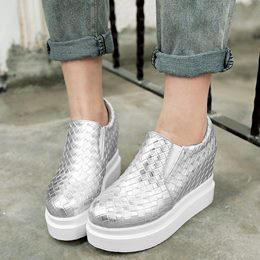 Shoespie Diamonds Patterns Slip On Sneakers