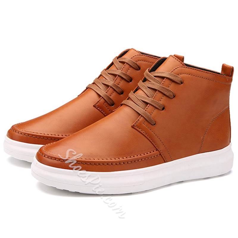 Shoespie Lace Up Men's Casual Boots