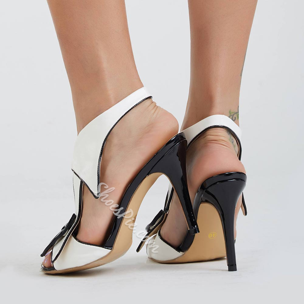 Shoespie Sexy Elastic Band Bowtie High Heel Dress Sandals