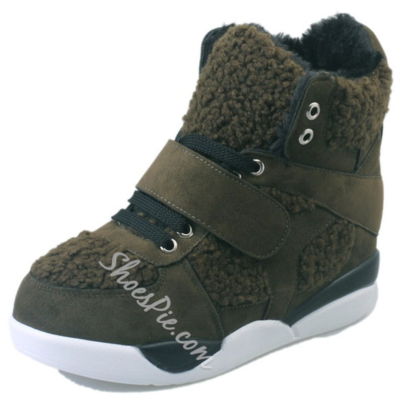 Shoespie Floss Lace Up Snow Hiking Boots