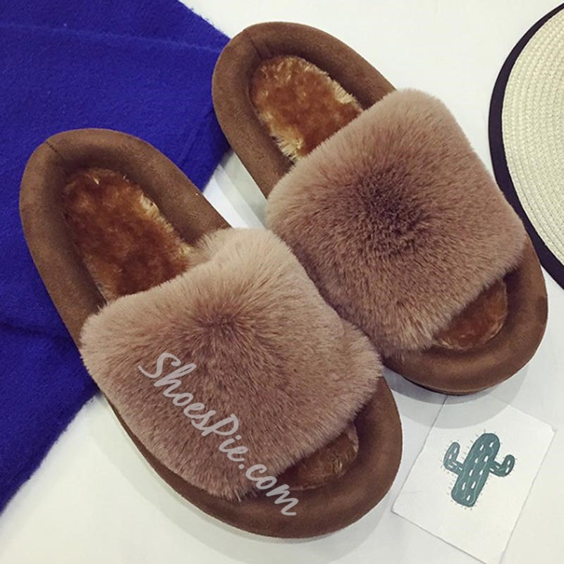 Shoespie Furry Slippers