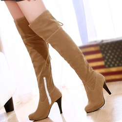Shoespie Simply Mid Heel Over the Knee High Boots