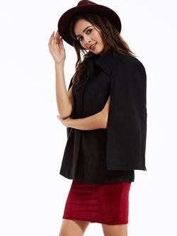 Plain Polyester Fall Women's Cape