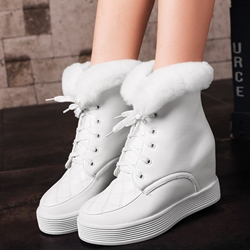 Shoespie Cute Round Toe Furry Snow Sneaker Boots