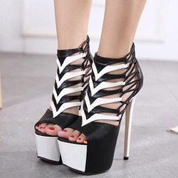 Shoespie Dual Color Platform Sandals