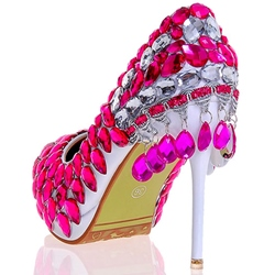 Shoespie Chic Rose Rhinestone Bridal Shoes
