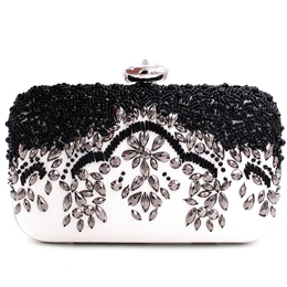 Shoespie Luminous Bead & Rhinestone Banquet Clutch Bag