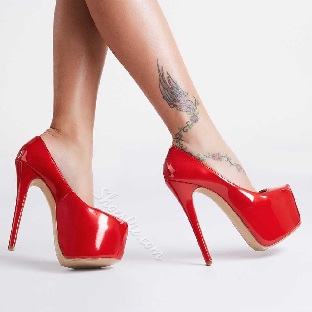 Womens Red Heel Shoes