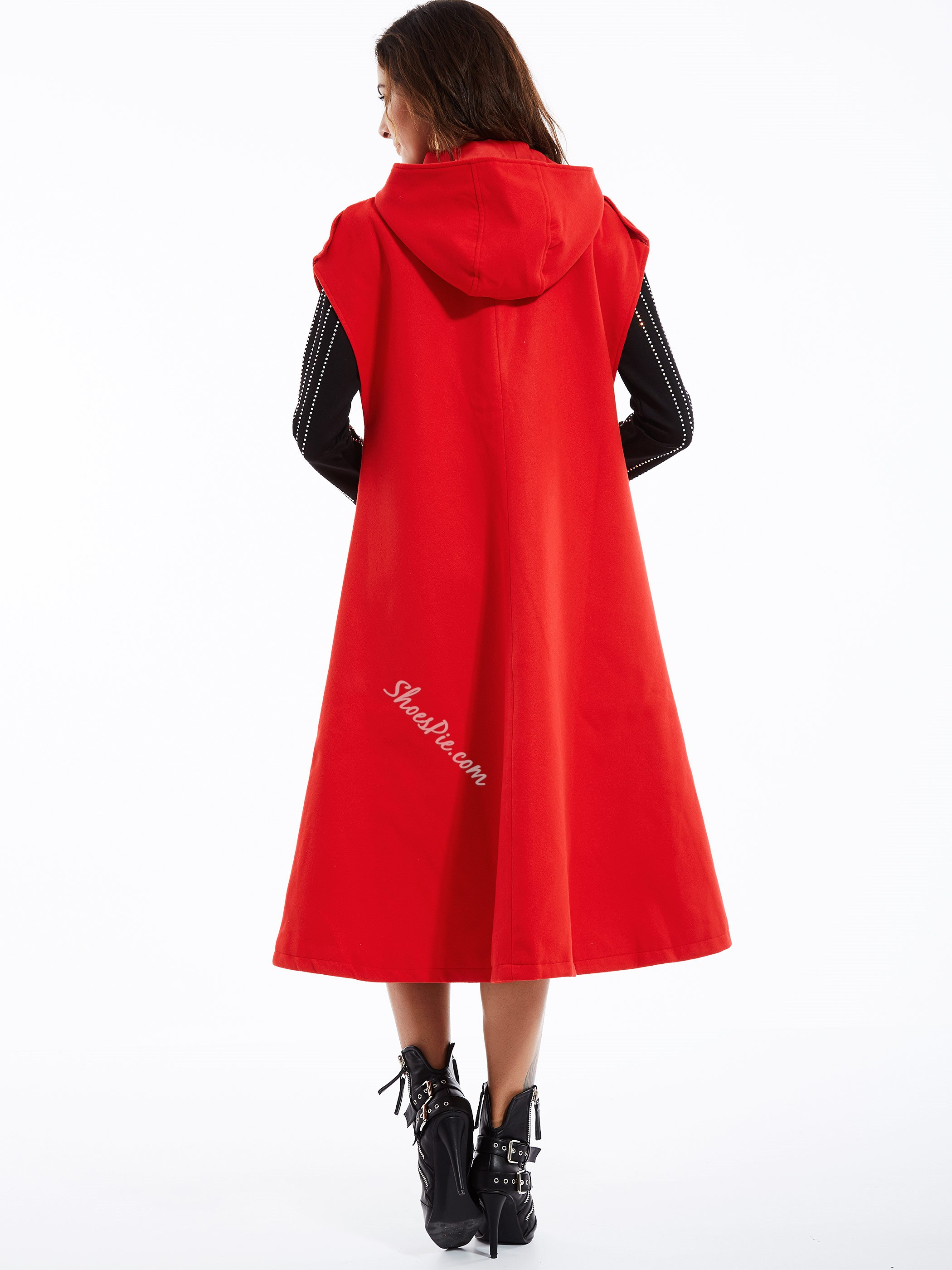 Plain Polyester Winter Women's Cape
