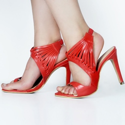 Shoespie Red Thong Toe Dress Sandals