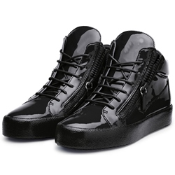 Shoespie Solid Black Sneakers