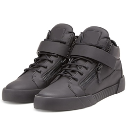 Shoespie Solid Black Skater Sneakers
