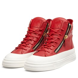 Shoespie Color Block Side Zipper Men's Sneakers
