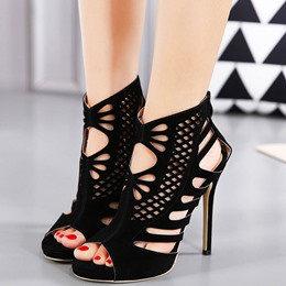 Shoespie Elegant Laser Cut Dress Sandals